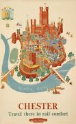 Original Vintage Poster - Lee Kerry - Chester - England - Wales - British - 1953