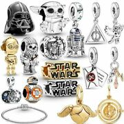 100 925 Sterling Silver Star Wars Beads Harry Potter Charms Fiit Pandora Gift
