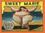 Vintage Freakshow Sideshow Circus Sweet Marie  Banner