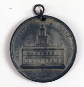 Antique Token Medal Fob 1776 - 1876 Independence Hall Liberty Bell Pa Rare