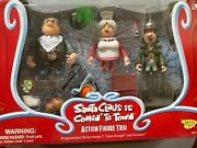 Santa Claus Is Cominand039 To Town Action Figure Trio Memory Lane Vintage