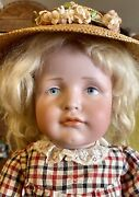 Antique 19andrdquo 114 Kammer Reinhardt German Bisque Doll W/mohair Wig And Great Outfi