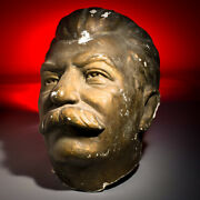 Unique Giant One-of-a-kind Josef Stalin Statue Head From Ukraine 1940-50and039s