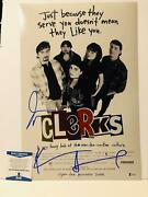 Kevin Smith And Jason Mewes Signed Clerks 12x18 Movie Poster 1