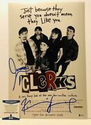 Kevin Smith And Jason Mewes Signed Clerks 12x18 Movie Poster 2 / Coa
