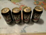 Lot Of Four Unopened Coke Zero Cans Of Varying Weights Rare Factory Error