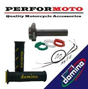 Domino Xm2 Quick Action Throttle Kit With Super Soft Grips For Indian Bikes