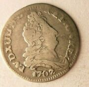 1702 France 5 Sols - Awesome Rare Silver Coin - High Quality 1702sfc