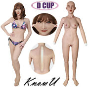 Body Fullbody Avec Couvre-chef Silicone Breast Forms D Cup For Transgender