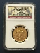 2014-w 10 Eleanor Roosevelt First Spouse Gold Ngc Ms70 Ogp Available