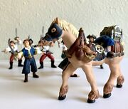 Papo Pirate Action Figures Set Of 9 Fantasy Battle Toys Retired 1999 2004 2005