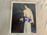 Carrie Fisher Signed 8x10 Color Photo Princess Leia Star Wars Autograph