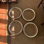 14 Chevy Camaro 1967-1972 Stainless Steel Beauty Rings Trim Ring Set Of 4 Euc