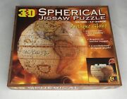 3d Spherical Jigsaw Puzzle Antique Globe 530 Piece 1998 Buffalo Games Sealed New