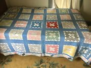 Vintage Feed Flour Sack 1930s Name American Estate Quilt Hand Sewn