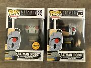 Batman Robot 193 2017 Funko Pops Chase And Regular Animated Series Vaulted
