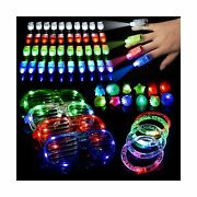 60pcs Led Light Up Toys Glow In The Dark Party Supplies, Glow Stick Party Pac...