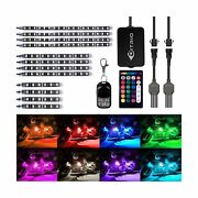 Ditrio 12pcs Motorcycle Led Light Kit Strips Multi-color Accent Glow Neon Gro...