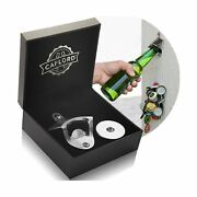 Bottle Opener Wall Mounted With Magnetic Cap Catcher Stainless Steel, Unique ...