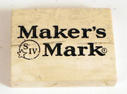 Vintage Makers Mark Whiskey Marble Stone Paperweight Advertising Tile Rare