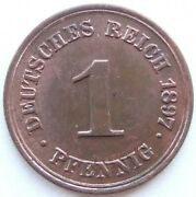 Top 1 Pfennig 1897 F In Uncirculated Rarely