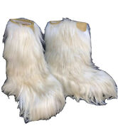 Vintage 1970's Open Country Goat Hair Yeti Boots Size Women's Eur 37-38=us 6-7