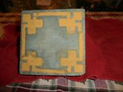 Extremely Rare Early Marblehead Pottery Tile 6 X 6 X 1 3/4