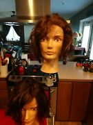 2 Lightly Used Pivot Point Mannequinandnbspwith 1 Clamp To Hold Your Mannequin Head
