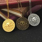 Pirates Of The Caribbean Movie Aztec Gold Medallion Pendant Necklace Coin Hot