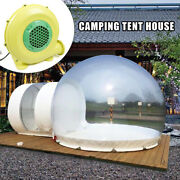 Outdoor Double Tunnel Inflatable Bubble Tent Camping Family Stargazing W/ Blower
