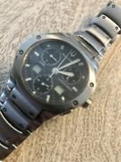 Bulova Accutron Mens Watch Stainless Steel Carbon Fiber Good Condition