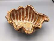 Signed Good Earth Pottery Richie Watts Handcrafted 'ostrich Shell' Bowl 2000