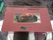 New Cooking With Calphalon Refined Anodized Nonstick 13x16 Roast Pan And Rack