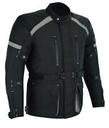 Aandh Apparel All Season Mens Motorcycle Touring Jacket With Ce Approved Armor
