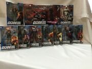 Gi Joe Classified Lot Of 10 New In Box Baroness Snake Eyes Factory Sealed Inhand