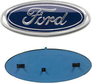 Ford Emblem 9 Inch F150 Front Grill / Tailgate Blue / Chrome 2004-2014