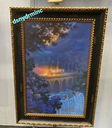 Disney Parks Carriage Ride Cinderella Castle Le Giclee Canvas Nadeau Signed 23