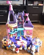 Fisher Price Little People Disney Princess Palace W/music, Figures And Coaches