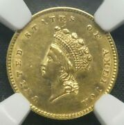 1854 Type 2 G1 Gold Dollar Us Coin Ngc Au Details Improperly Cleaned