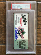 Orel Hershiser Signed Authentic World Series Game 5 Ticket Stub Psa Clinched