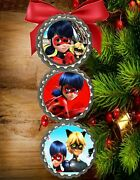 Miraculous Tales Of Ladybug And Cat Noir Christmas Tree Ornaments Decor