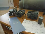 Autoart 74016 118 Jeep Willys Army Green With Trailer And Accessories
