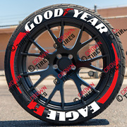 Permanent Tire Lettering Goodyear Eagle F1 Tire 1.25 14 To 22 16 Decal Kit