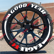Permanent Tire Lettering Goodyear Eagle F1 Tire 1.25 14 To 22 Decal 16 Kit