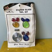 Glasglo Brand Stained Glass Pre-cut And Ready To Assemble Owl Kit Vintage