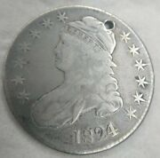 1824/1 Capped Bust Half Dollar O-102 Rare Variety Fine/very Fine F/vf Details