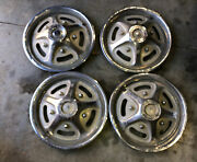 """Vintage Ford Truck F-100/150 Hub Caps 15"""" Inch 4 Mag Style Oem 73-86"""