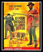 For A Few Dollars More 4x6 Ft French Grande Original Movie Poster 1965