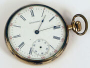 Antique Gold Filled Pocket Watch Waltham Side Winder Usa Not Working For Repair