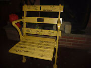 Cleveland Stadium Chair/seat Signed By 1964 Nfl Champions